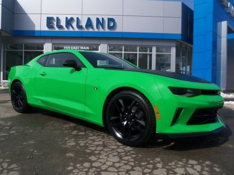 Krypton Green 2017 Chevrolet Camaro LT Coupe