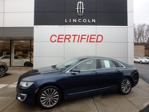 Midnight Sapphire Blue 2017 Lincoln MKZ Select
