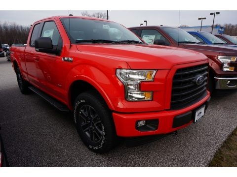 Race Red 2017 Ford F150 XLT SuperCab 4x4