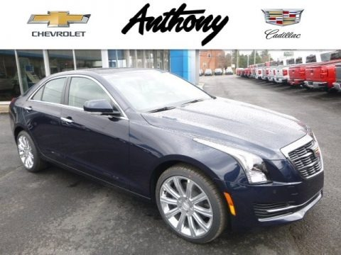Dark Adriatic Blue Metallic 2017 Cadillac ATS Luxury AWD