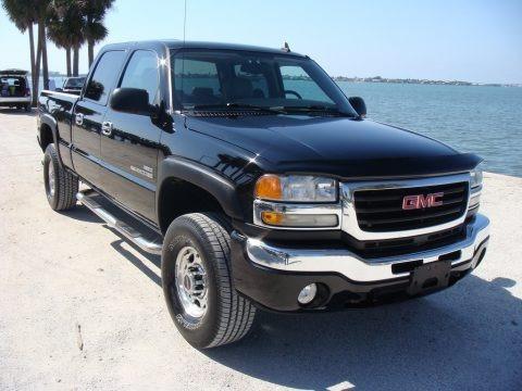 Onyx Black 2006 GMC Sierra 2500HD SLT Crew Cab 4x4
