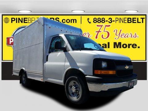 Summit White 2017 Chevrolet Express Cutaway 3500 Moving Van