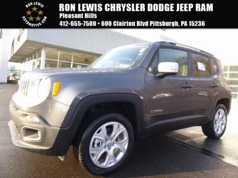 Granite Crystal Metallic 2017 Jeep Renegade Limited 4x4