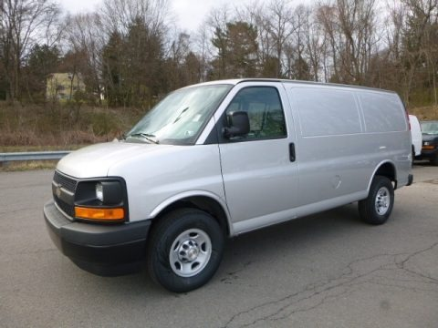 Silver Ice Metallic 2017 Chevrolet Express 2500 Cargo WT