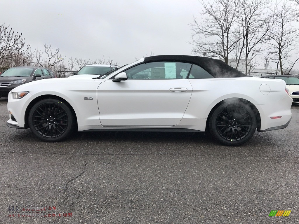 2017 ford mustang gt premium convertible in oxford white for sale 264625 all american. Black Bedroom Furniture Sets. Home Design Ideas