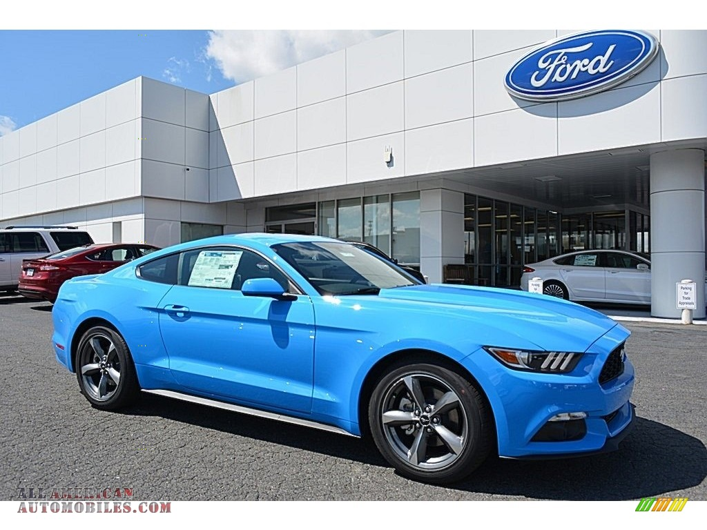 2017 ford mustang ecoboost coupe in grabber blue 304971 all american automobiles buy. Black Bedroom Furniture Sets. Home Design Ideas