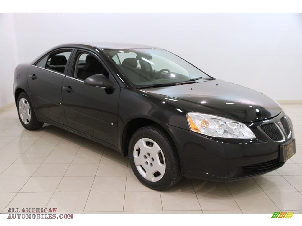 Black / Ebony Pontiac G6 Sedan