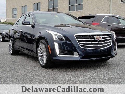 Dark Adriatic Blue Metallic 2017 Cadillac CTS Luxury