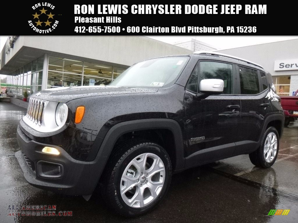 2017 jeep renegade limited 4x4 in black f23999 all american automobiles buy american cars. Black Bedroom Furniture Sets. Home Design Ideas