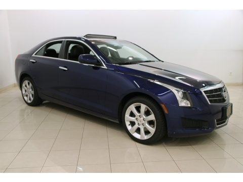 Opulent Blue Metallic 2014 Cadillac ATS 2.0L Turbo AWD