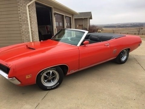 Red 1970 Ford Torino GT Convertible