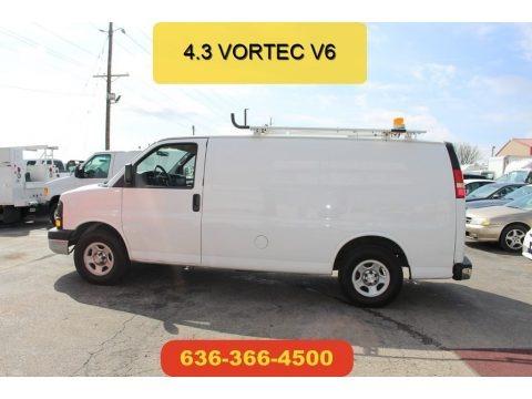 Summit White 2008 Chevrolet Express 1500 Cargo Van