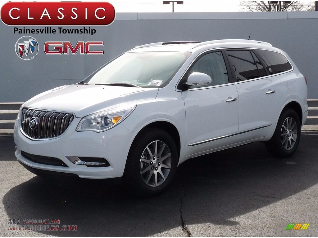 2017 buick enclave convenience in summit white 304082 all american automobiles buy for Buick enclave titanium interior