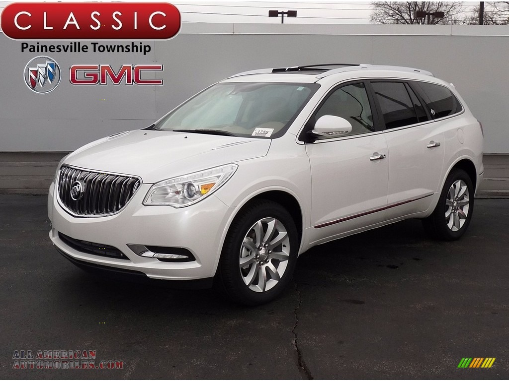 2017 buick enclave premium awd in white frost tricoat 303472 all american automobiles buy. Black Bedroom Furniture Sets. Home Design Ideas