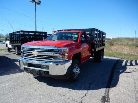 Red Hot 2017 Chevrolet Silverado 3500HD Work Truck Regular Cab Dual Rear Wheel Chassis