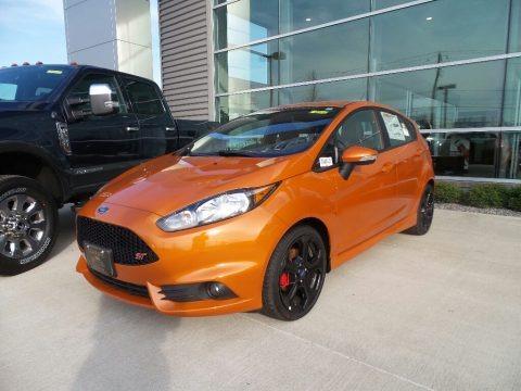 Orange Spice Metallic Tri-Coat 2017 Ford Fiesta ST Hatchback