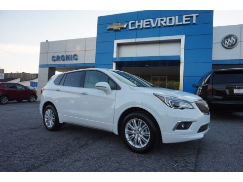 Summit White 2017 Buick Envision Preferred