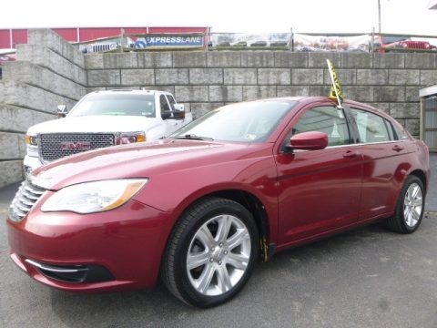 Deep Cherry Red Crystal Pearl 2011 Chrysler 200 Touring