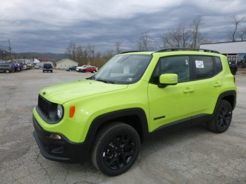 Hypergreen 2017 Jeep Renegade Latitude 4x4