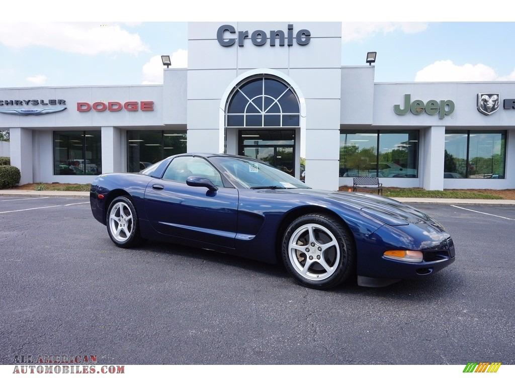 2000 Corvette Coupe - Navy Blue Metallic / Light Oak photo #1