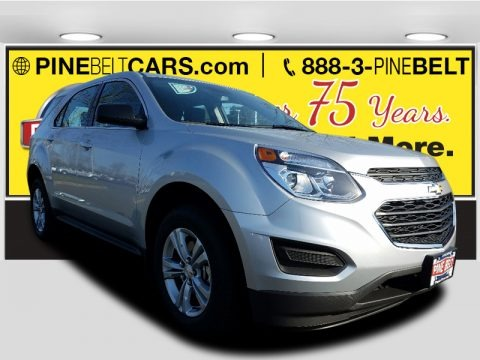 Silver Ice Metallic 2017 Chevrolet Equinox LS