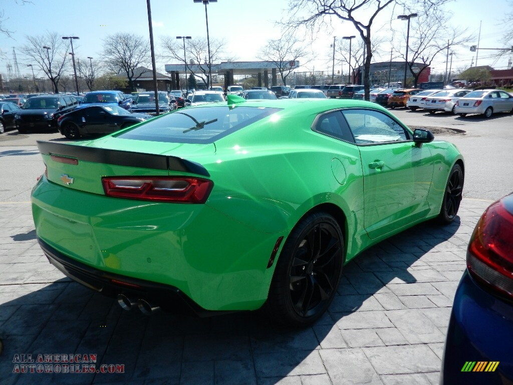 2017 Camaro LT Coupe - Krypton Green / Jet Black photo #5