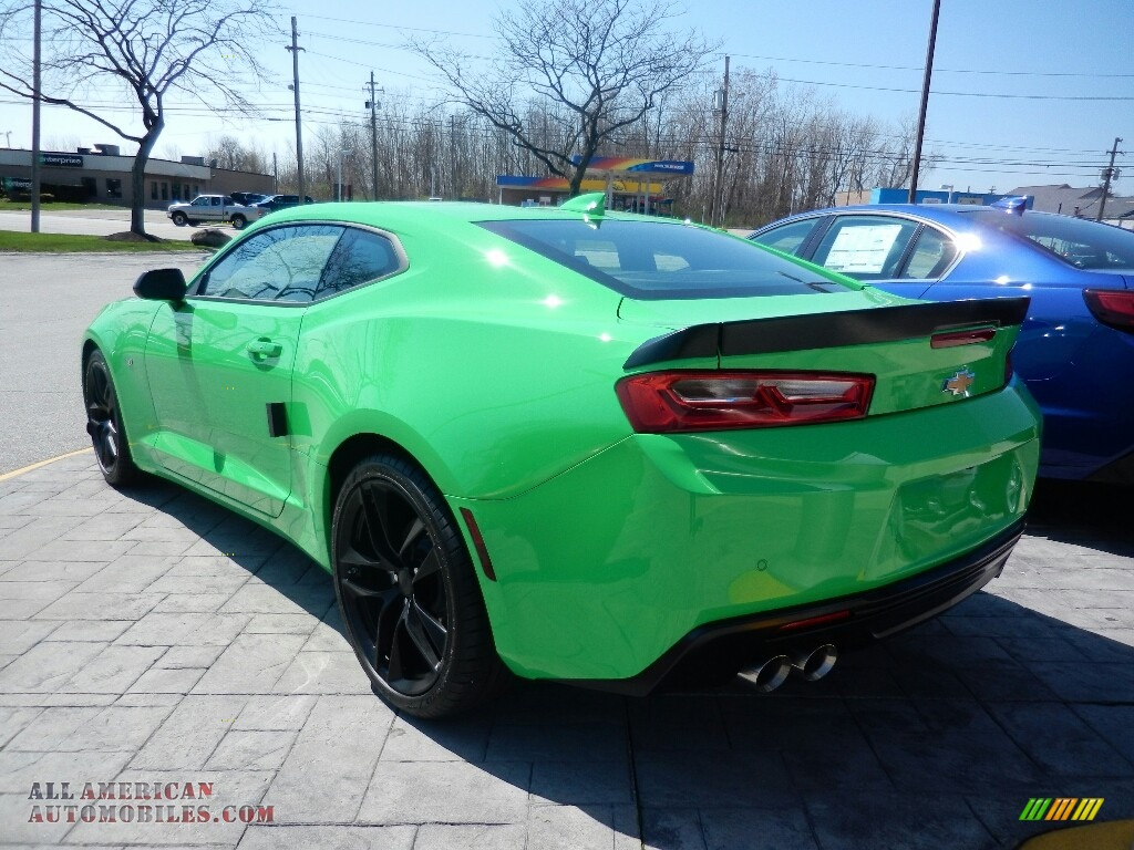 2017 Camaro LT Coupe - Krypton Green / Jet Black photo #6