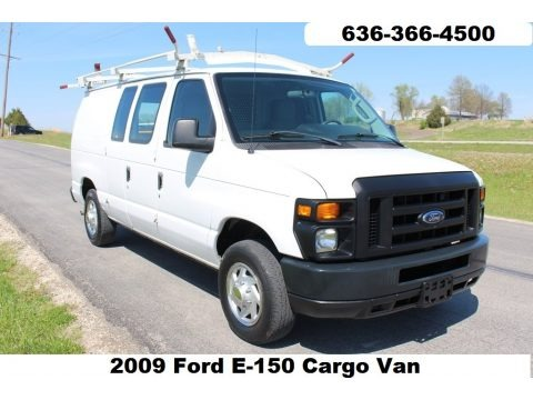Oxford White 2009 Ford E Series Van E150 Commercial