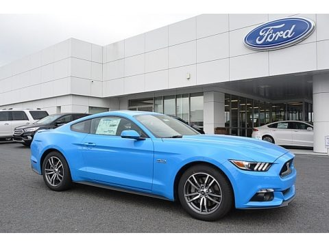 Grabber Blue 2017 Ford Mustang GT Premium Coupe