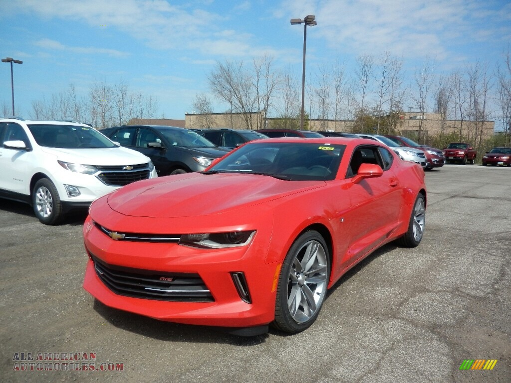 Red Hot / Jet Black Chevrolet Camaro LT Coupe