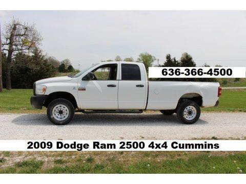 Bright White 2009 Dodge Ram 2500 ST Quad Cab 4x4