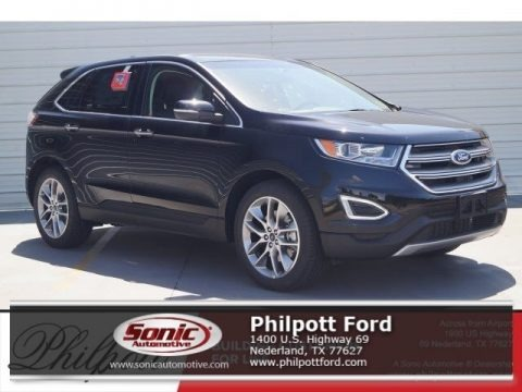 Shadow Black 2017 Ford Edge Titanium