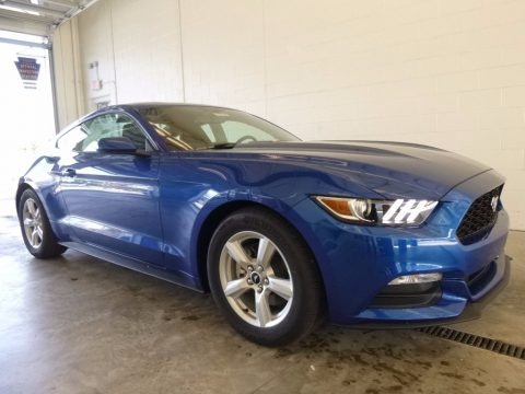 Lightning Blue 2017 Ford Mustang V6 Coupe