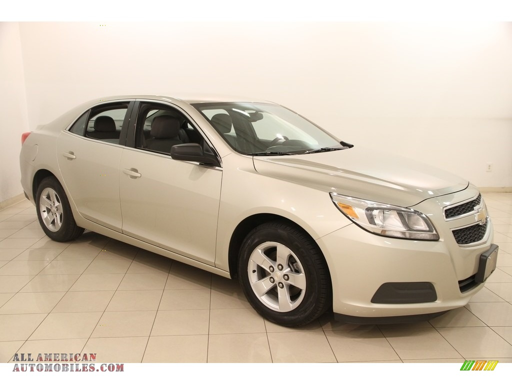 2013 Malibu LS - Champagne Silver Metallic / Jet Black/Titanium photo #1