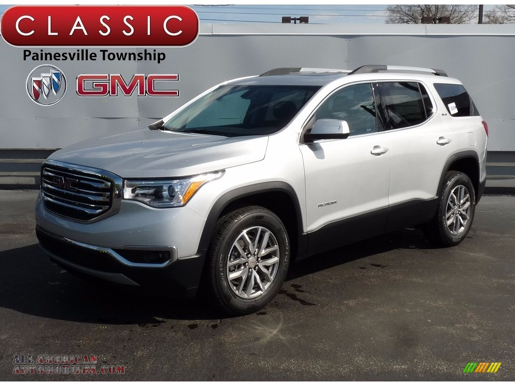 Quicksilver Metallic / Jet Black GMC Acadia SLE AWD