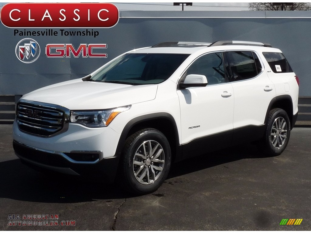 Summit White / Dark Ash Gray/Light Ash Gray GMC Acadia SLE AWD