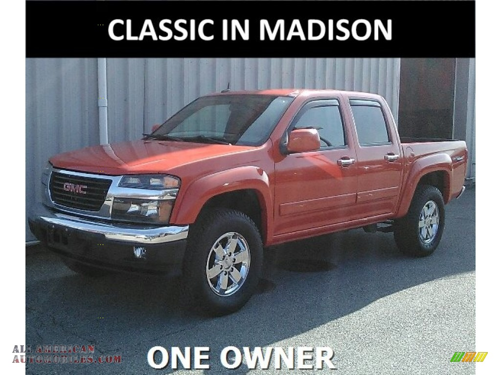 2012 Canyon SLE Crew Cab 4x4 - Red Orange Metallic / Ebony photo #1