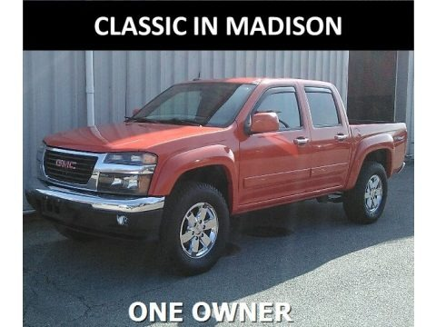 Red Orange Metallic 2012 GMC Canyon SLE Crew Cab 4x4