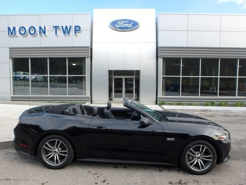 Shadow Black 2016 Ford Mustang GT Premium Convertible