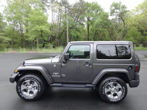 Granite Crystal Metallic 2017 Jeep Wrangler Sahara 4x4