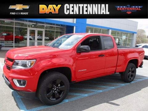Red Hot 2017 Chevrolet Colorado LT Extended Cab 4x4