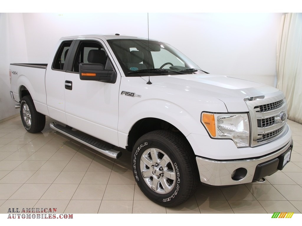 2014 F150 XLT SuperCab 4x4 - Oxford White / Steel Grey photo #1