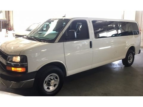Summit White 2014 Chevrolet Express 3500 Passenger Extended LT