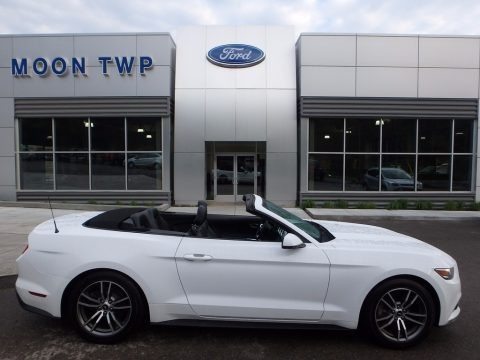 Oxford White 2016 Ford Mustang EcoBoost Premium Convertible