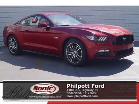 Ruby Red 2017 Ford Mustang GT Coupe
