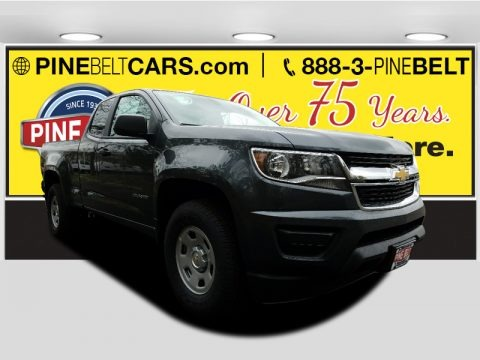 Cyber Gray Metallic 2017 Chevrolet Colorado WT Extended Cab