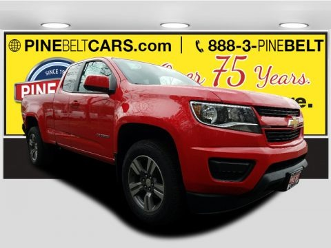 Red Hot 2017 Chevrolet Colorado WT Extended Cab