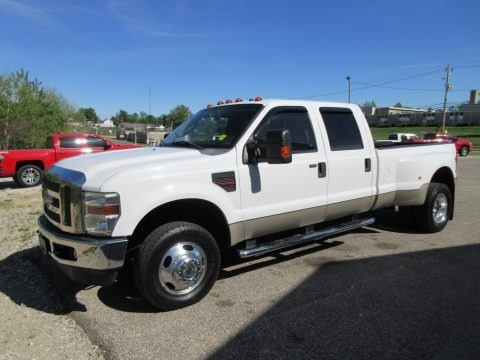 Oxford White 2008 Ford F350 Super Duty Lariat Crew Cab 4x4 Dually