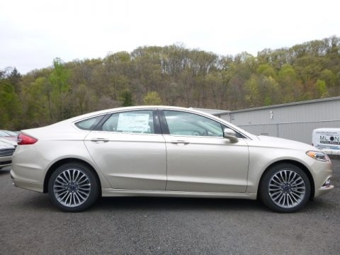 White Gold 2017 Ford Fusion SE