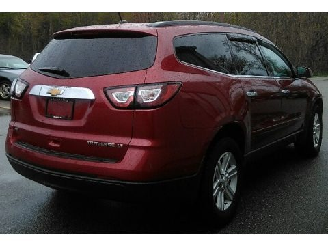 Crystal Red Tintcoat 2013 Chevrolet Traverse LT AWD